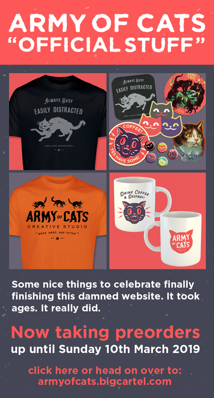 Army of Cats Creative Studio Merchandise